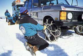 How Many Snow Tire Chains Are Needed For Snow And Ice On A 4 Wheel