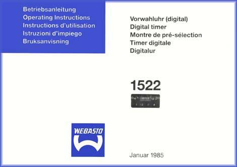 Webasto manual